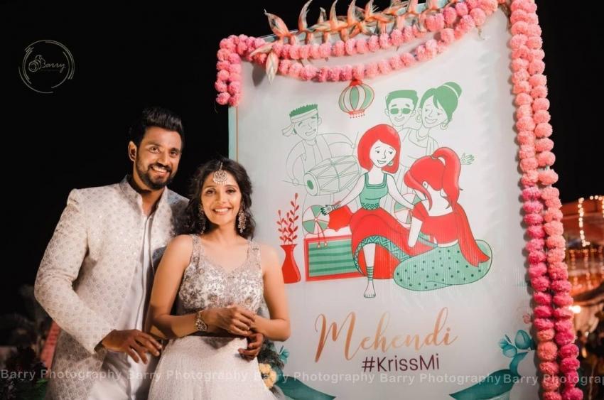 Milana Nagaraj And Darling Krishna Mehandi Ceremony Photos
