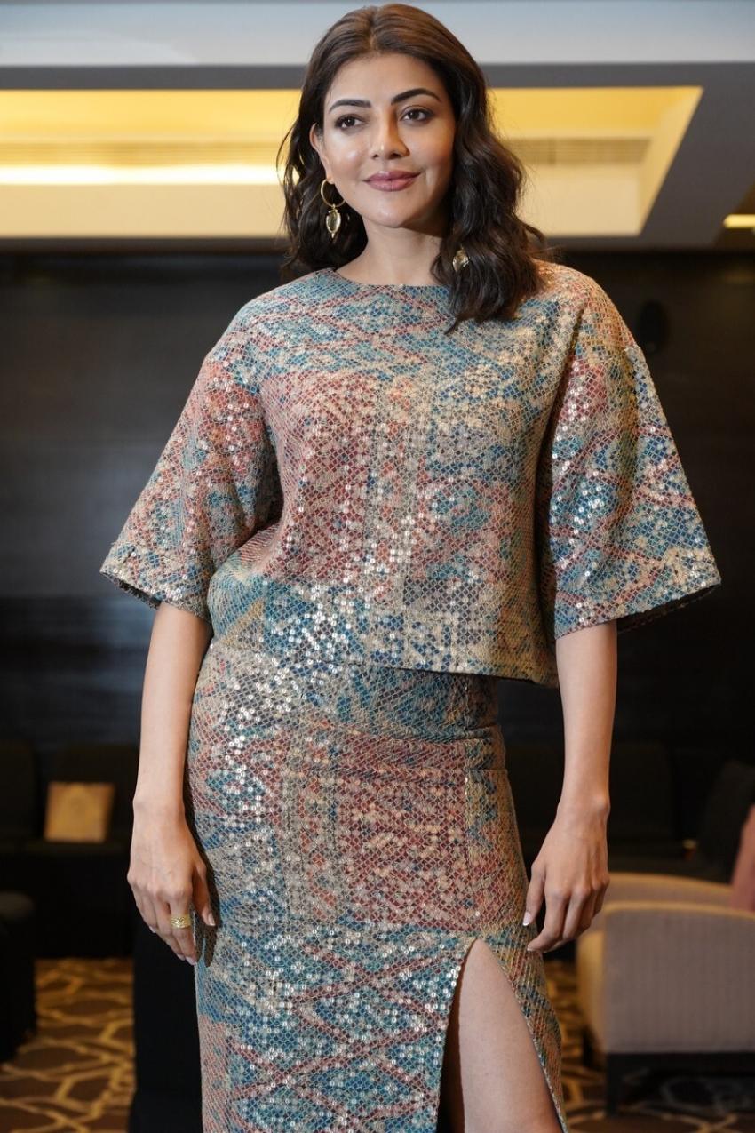 Mosagallu Movie Actress Kajal Agrawal Press conference Photos