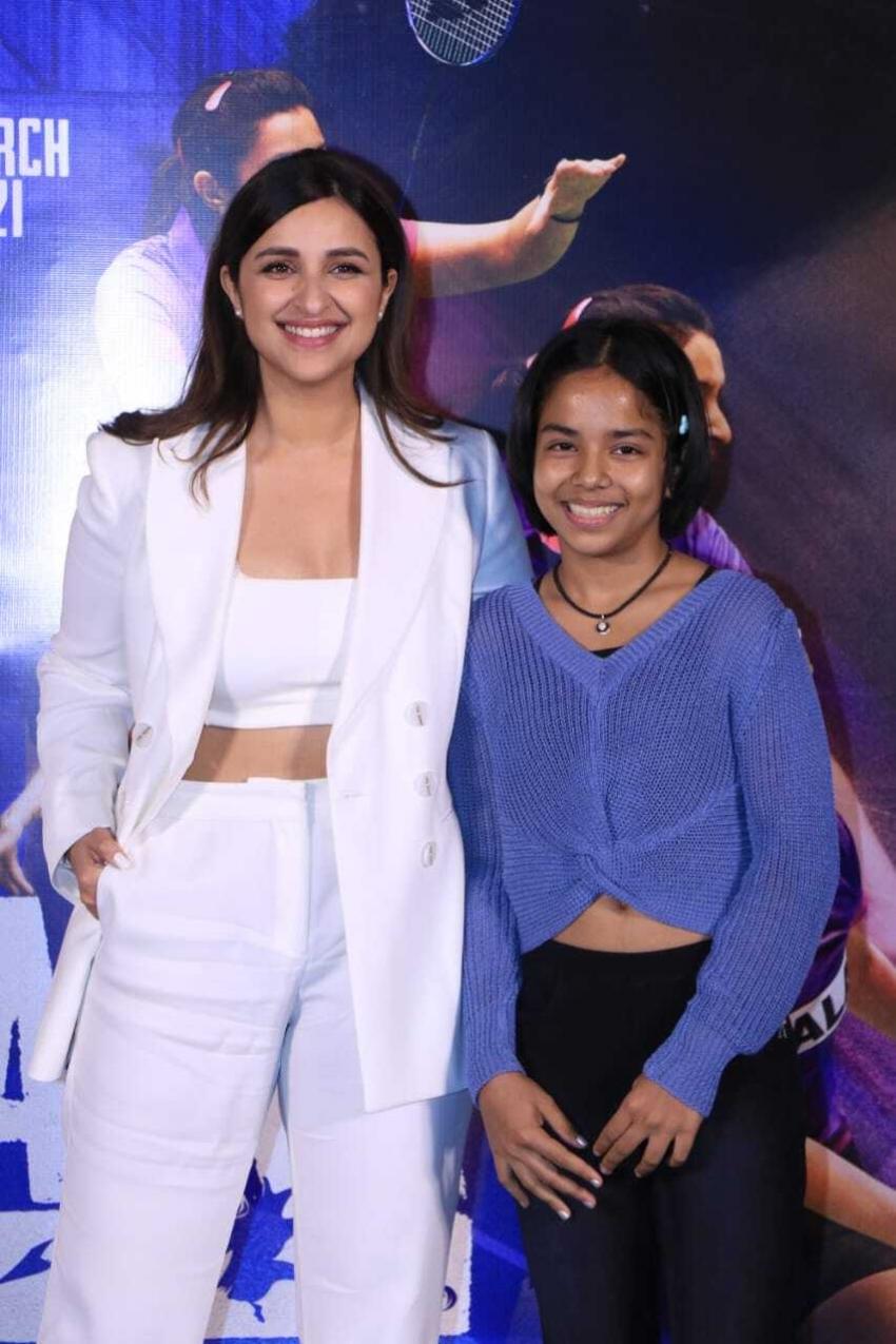 Parineeti Chopra's Saina Movie Trailer launch in Mumbai Photos
