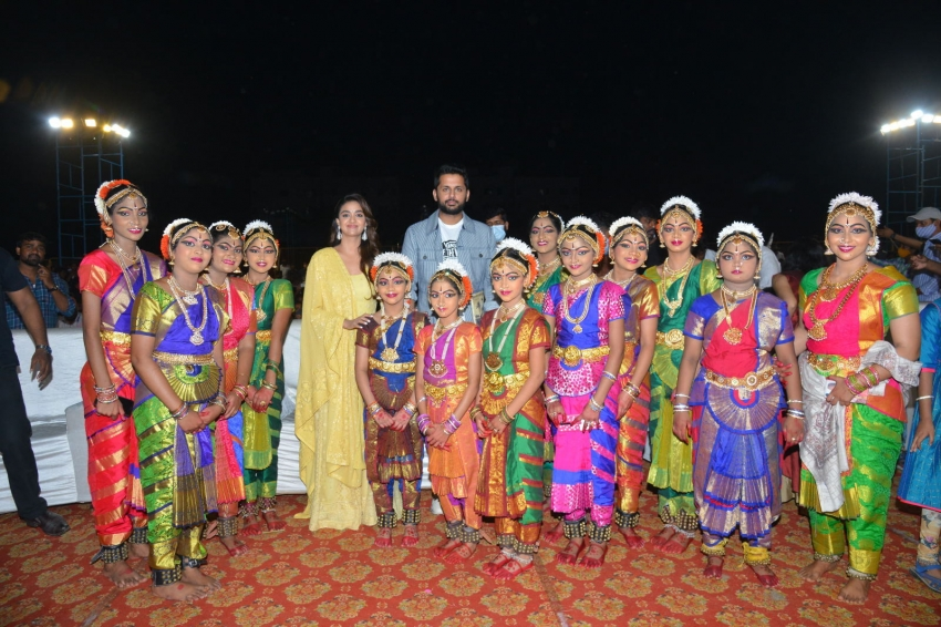 RangDe Grand Release Event at Rajahmundry Photos