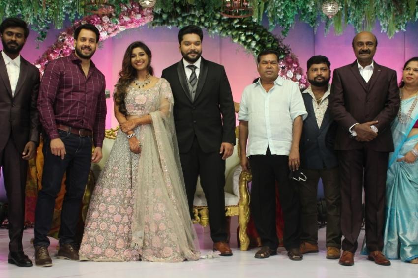 M S Bhaskar Daughter Wedding Photos