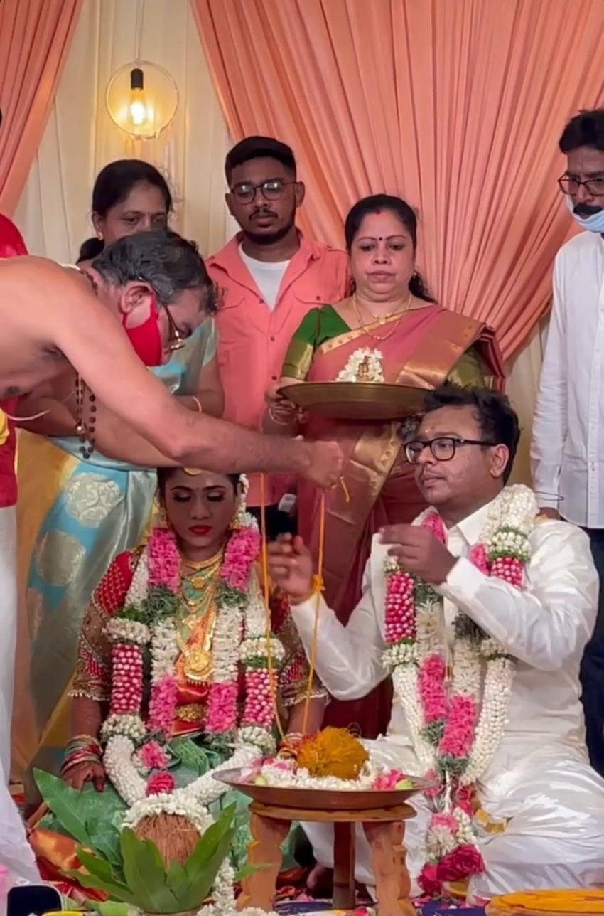 Mersal Cinematographer GK Vishnu Wedding Photos