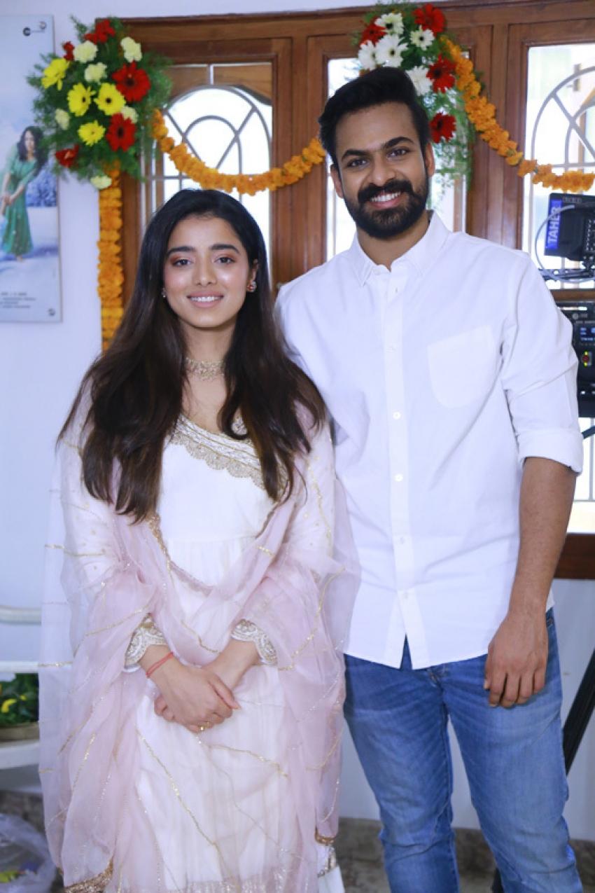 Vaisshnav Tej's new movie pooja Photos