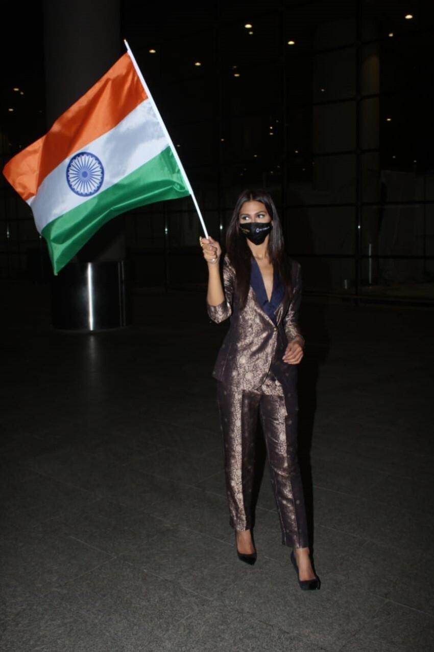 Miss Universe Andrea Meza Arrives At Mumbai Airport Photos