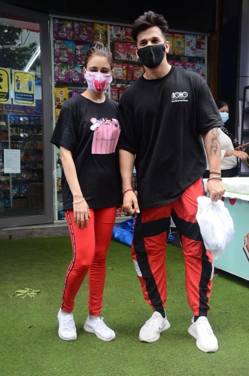 Prince Narula and Yuvika Chaudhary spotted at Andheri Photos