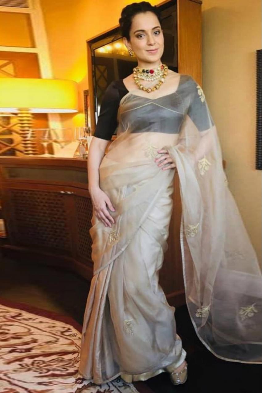 कंगना रनौत का बोल्ड ड्रेस से लेकर साड़ी तक का हॅाट लुक, देखिए फोटो