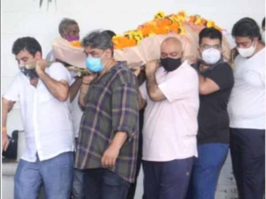मंदिरा बेदी के पति राज कौशल का अंतिम संस्कार