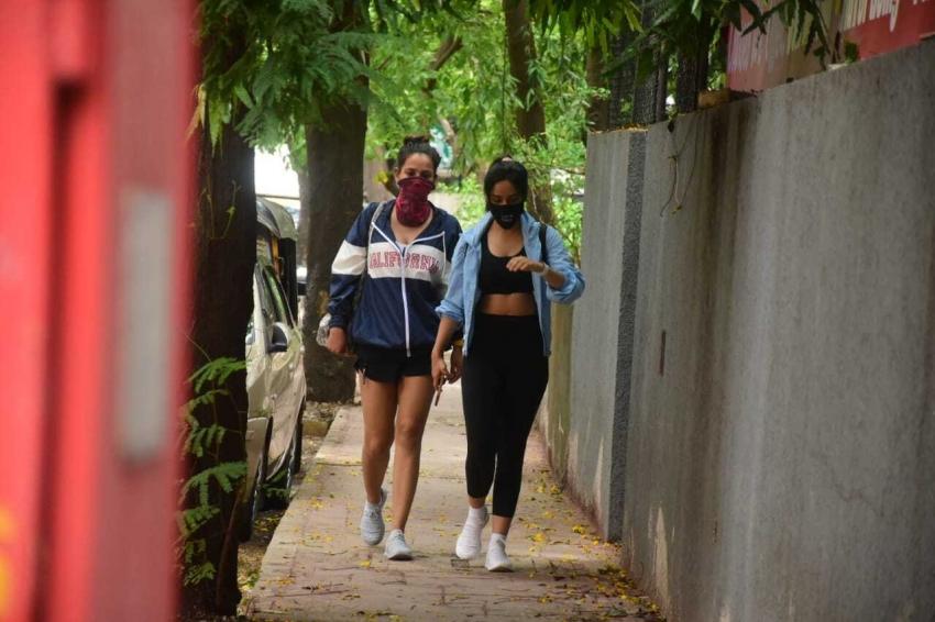 Ashi Sharma Neha Sharma spotted in Bandra Photos