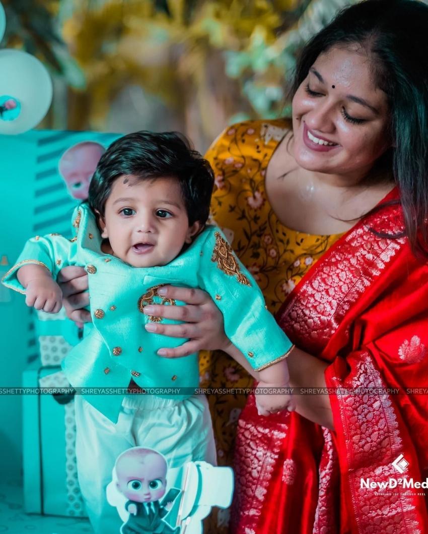 Meghana Raj Son Photos
