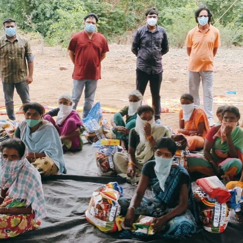 Rana Daggubati comes to the rescue of 400 tribal families during the Covid-19 pandemic Photos