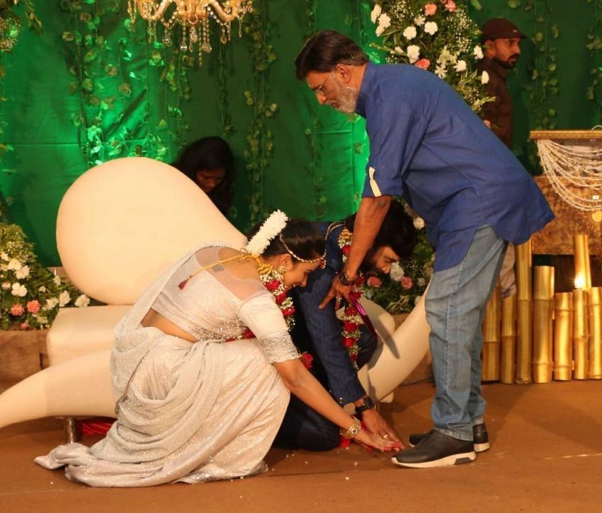 அமைச்சர் முதல் சினிமா பிரபலங்கள் வரை.. சினேகன் - கன்னிகா ரிசெப்ஷன் போட்டோஸ்!