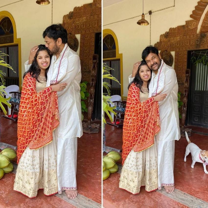 Chirajeevi మనవరాలు క్యూట్ ఫోటోలు.. మెగాస్టార్ కౌగిలిలో అలాప్రేమగా!