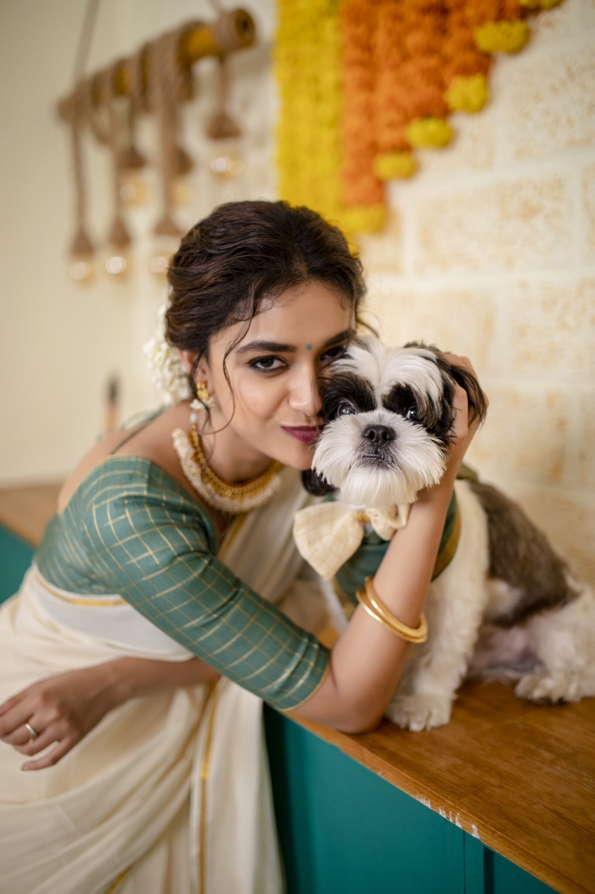 Keerthy Suresh's Latest Pictures With Her Pet Nyke Are All Things Cute! Seen Yet? Photos