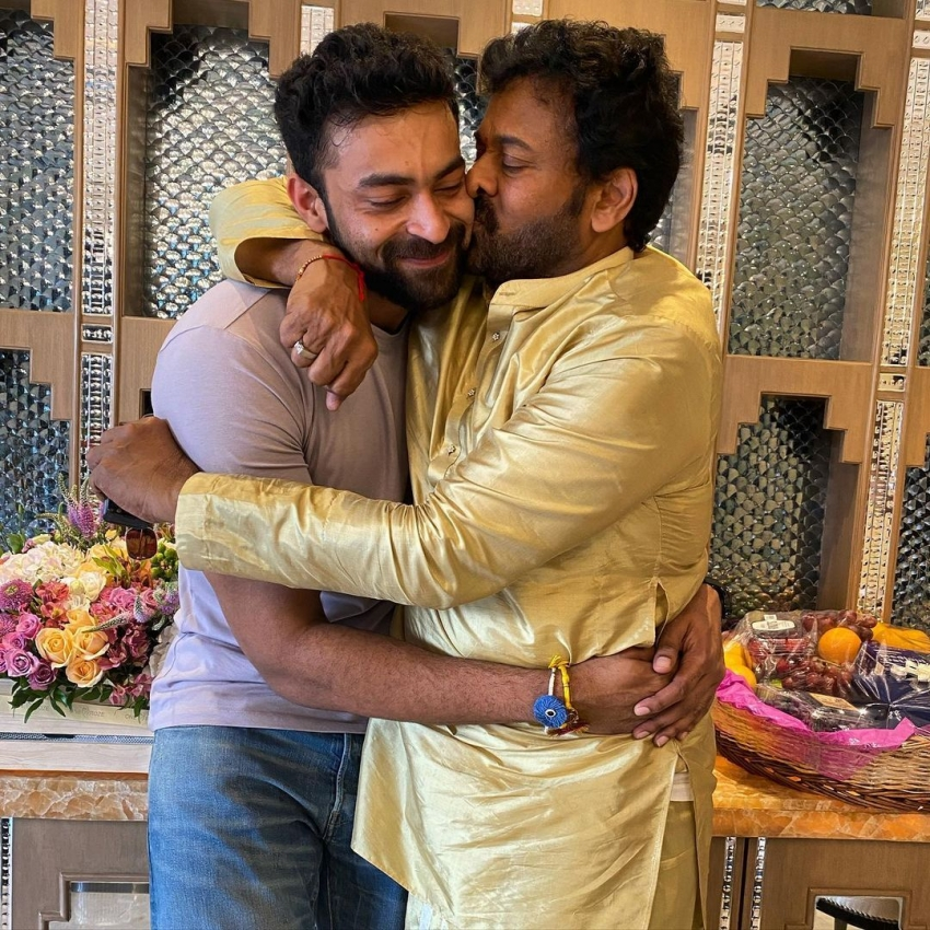 Chiranjeevi lovely kiss to Pawan Kalyan: అపూర్వ సోదరుల అద్భుత కలయిక