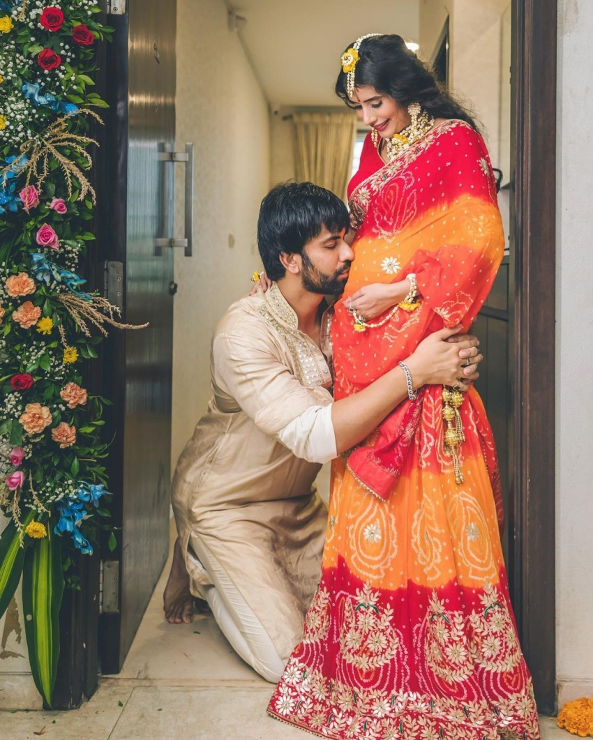 Rajeev Sen's Actress-Wife Charu Asopa Looks Radiant At Her Baby Shower Photos