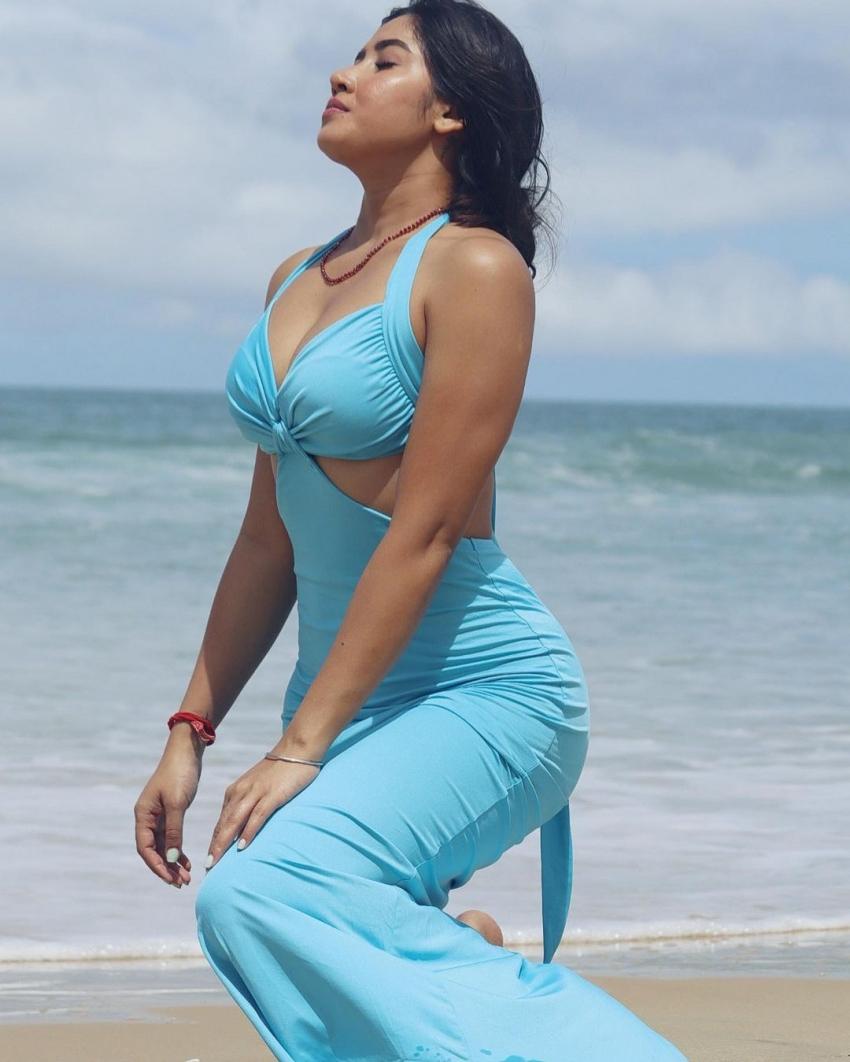 Sofia Ansari హాట్ షో మామూలుగా లేదుగా.. ఎద అందాల విందు.. ఎక్కడా తగ్గట్లేదు!