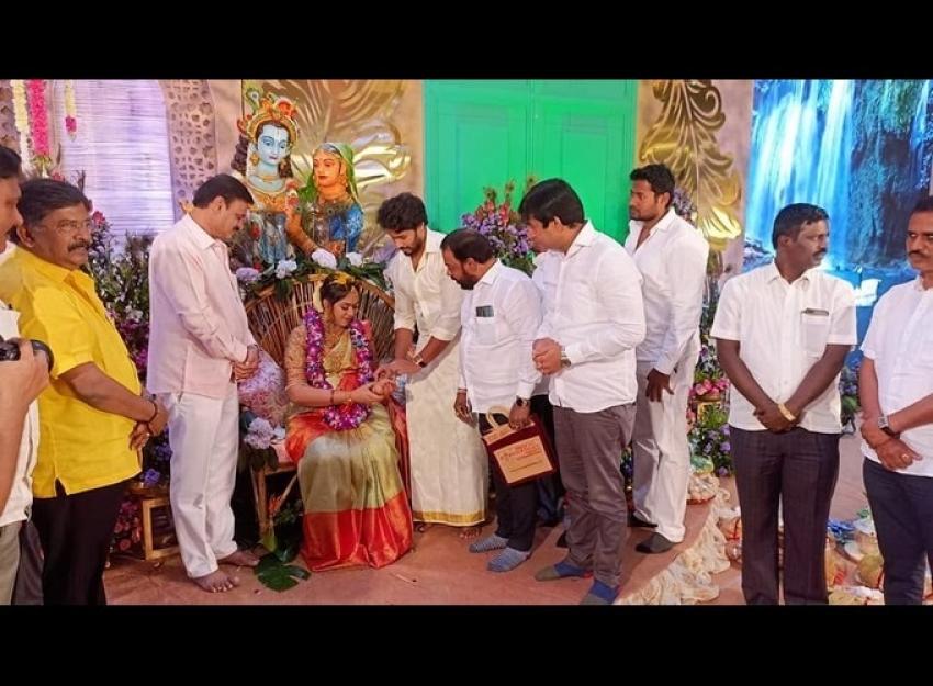 ನಿಖಿಲ್ ಕುಮಾರಸ್ವಾಮಿ ಪತ್ನಿ ರೇವತಿ ಸೀಮಂತದ ಚಿತ್ರಗಳು