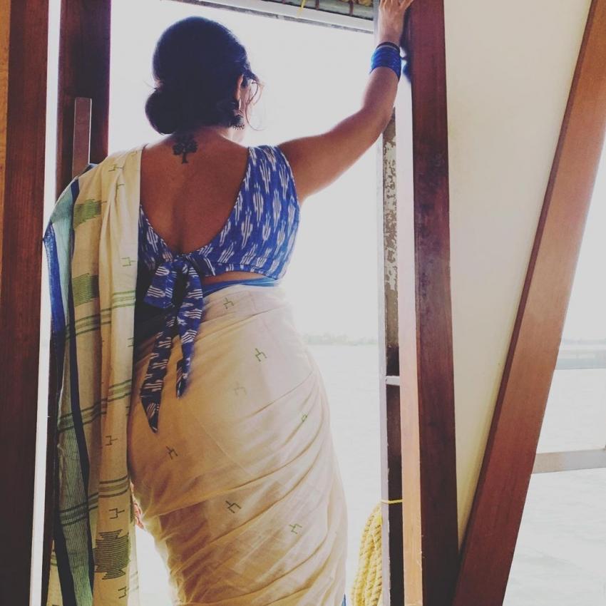 സാരിയില് തിളങ്ങി അഭയ ഹിരണ്മയി; സ്വപ്നതുല്യമെന്ന് സോഷ്യല് മീഡിയ