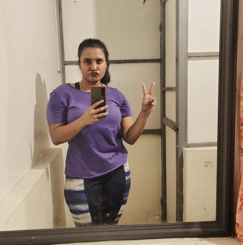 വർക്കൗട്ട് ചിത്രം പങ്കുവെച്ച്  റോഷ്ണ അന്ന റോയി, ചിത്രം കാണൂ