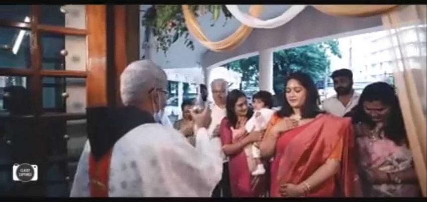 Meghana Raj son Ryan Raj Sarja Naming Ceremony Photos