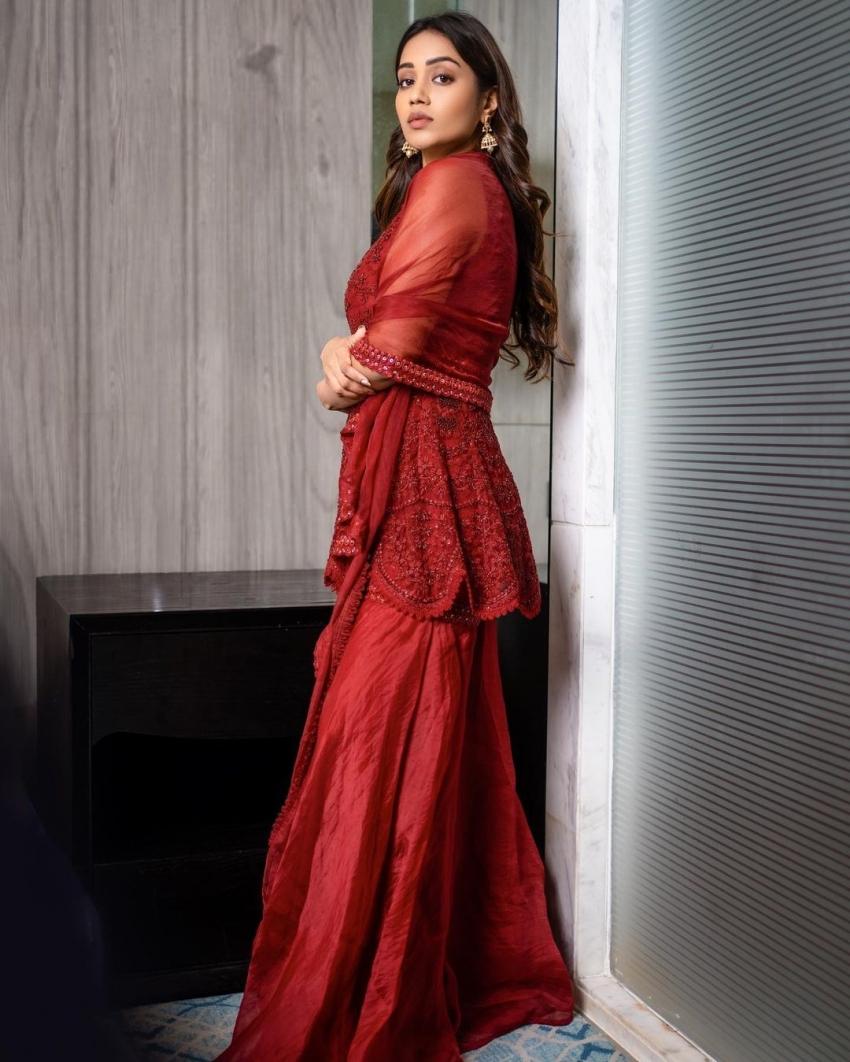 റെഡ് ഹോട്ട് ലുക്കില് നിവേദ പെത്തുരാജ്; ചുവപ്പണിഞ്ഞ് താരസുന്ദരി