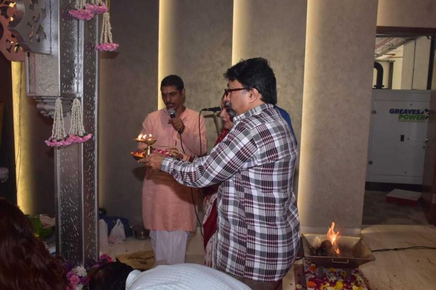 Urvashi Rautela at T series Ganapati Darshan Photos