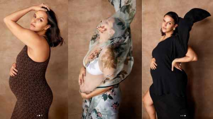 9 महीने के बेबी बंप के साथ नेहा धूपिया का प्रेगनेंसी फोटोशूट