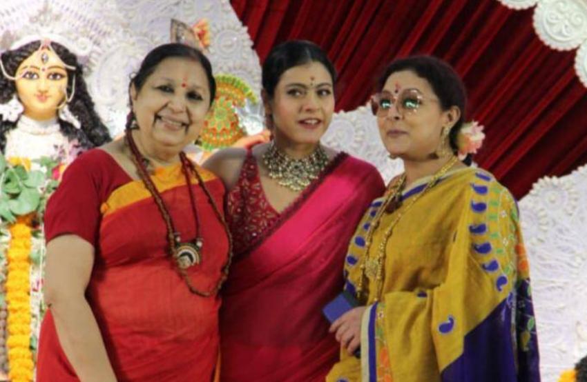 दुर्गा पंडाल से वायरल हो रहा है काजोल का नवरात्रि लुक!