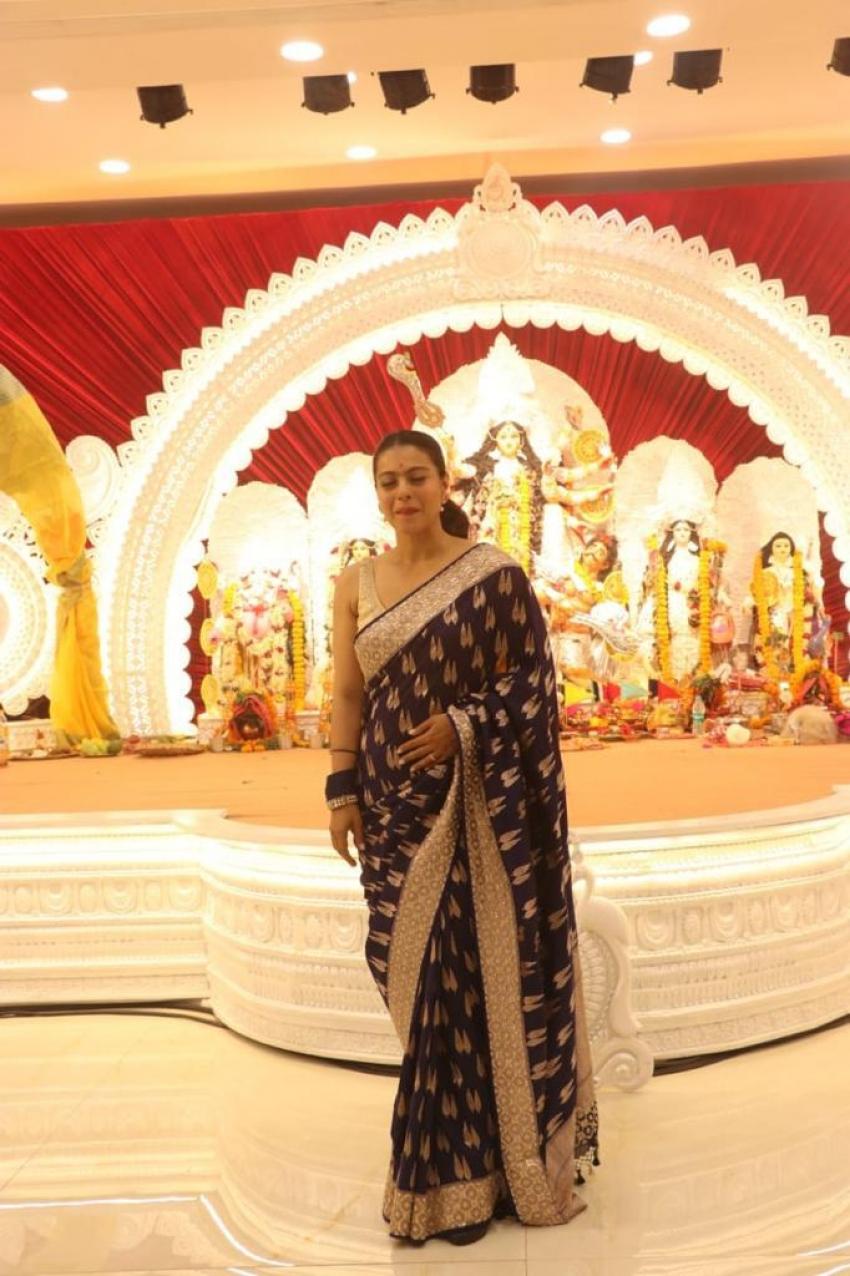 Mouni Roy and Kajol at Durga Pendal Photos