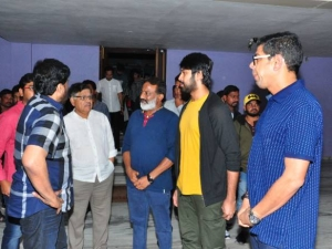Chiranjeevi Watched Special Screening Of Vijetha Movie At Prasad Labs In Hyderabad
