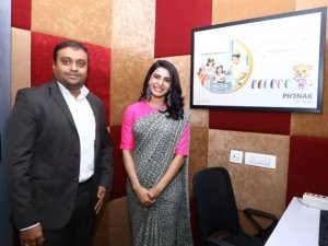 Samantha participated in a Social Initiative taken up by PHONAK in association with AUM