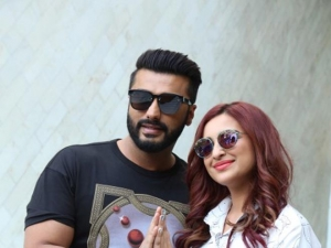 Arjun Kapoor and Parineet Chopra at a photoshoot to promote Namastey England