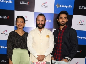 Saif Ali Khan And Radhika Apte promotes  Bazaar In New Delhi