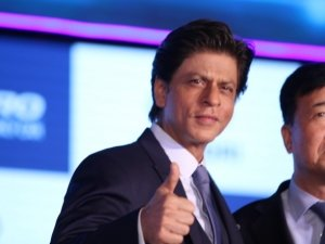 Shahrukh Khan at Launch of New Hyundai Santro