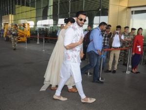 Deepika Padukone and Ranveer Singh Leave For Bangalore Reception