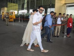 Deepika Padukone and Ranveer Singh Leave For Bangalore Reception