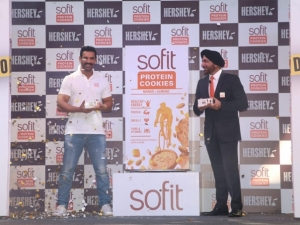 John Abraham Launch Hershey Sofit Protein Cookies