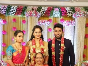 Actress Suja Varunee and Sivakumar Wedding Reception Photos