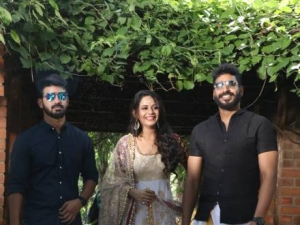 Mahat Raghavendra and Aishwarya Dutta In Venkat Prabhu's Next Untitled Movie Pooja