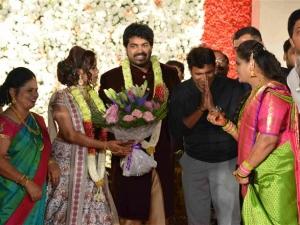 Rajahuli Fame Harsha P and Aishwarya Wedding Reception Photos
