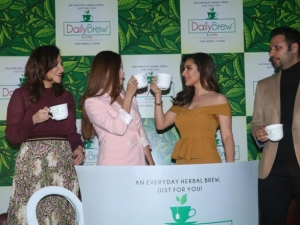 Dia Mirza and Sophie Choudry At The Launch Of New Daily Brew Tea Brand