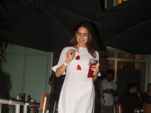 Sara Ali Khan snapped at Kitchen Garden