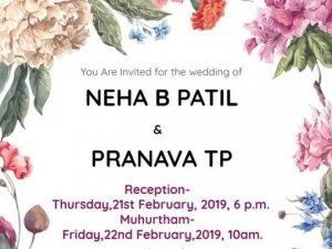 Actress Neha Patil Marriage Photos