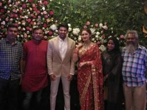 Arya And Sayyesha Saigal Wedding Reception In Chennai