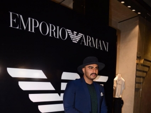Arjun Kapoor At Emporio Armani New Collection Launch