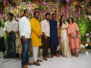 Tamil actor Vishal And Anisha Reddy Engagement Photos