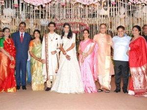 Laharivelu Daughter Varsha And Charan Wedding Reception