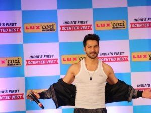Varun Dhawan At Launch Of Luxcozi New Collection