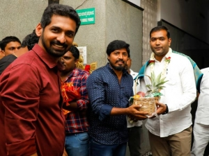 Actress Aishani Shetty And Gultoo Naveen New Movie Pooja