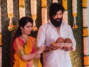 Radhika Pandit And Yash daughter Arya Baby Naming Ceremony